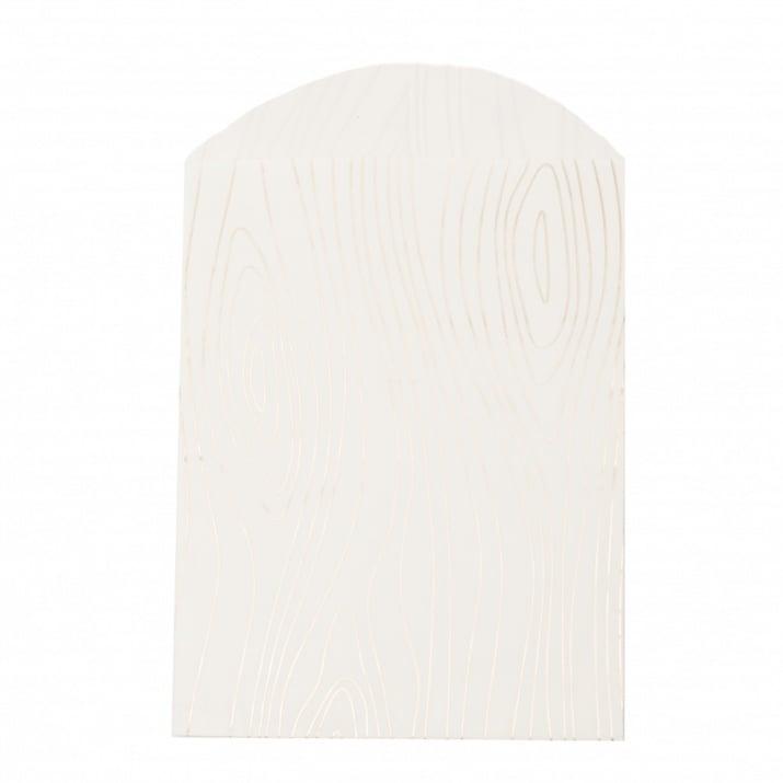 Хартиен плик за подарък луксозен 12x16 см с прихлупване 3 см шарка дърво -10 броя