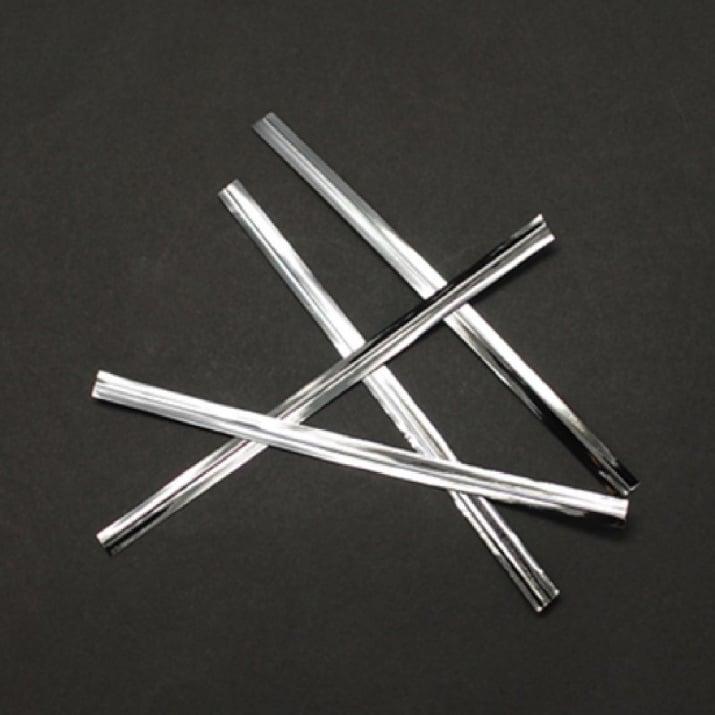 Метална лента 100x4 мм цвят сребро -1000 броя