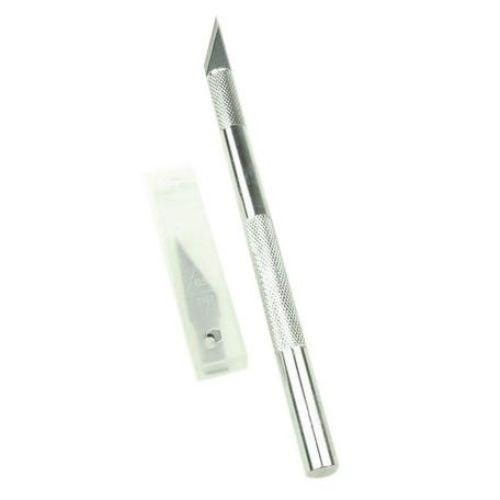 Крафтърски нож (скалпел) с 5 резервни ножчета
