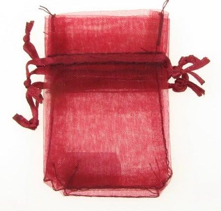 Торбичка за бижута 70x50 мм бордо