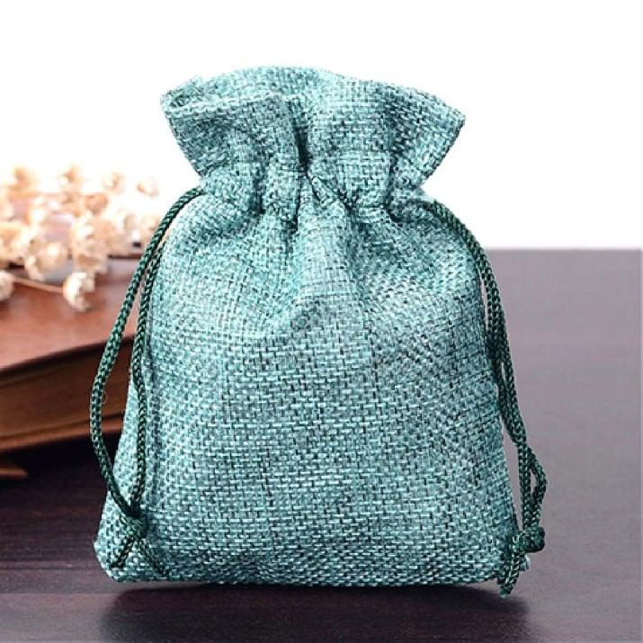 Торбичка от зебло 9x12 см зелена