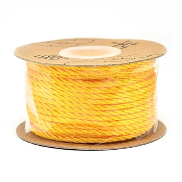 Шнур полиестер 2 мм оранжев -5 метра