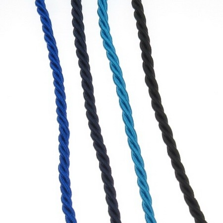 Шнур полиестер 3.5 мм пресукан цвят АСОРТЕ -1 метър