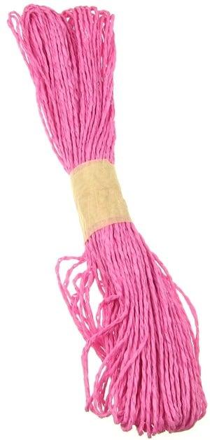 Шнур от хартия 2 мм розов тъмен ~25 метра