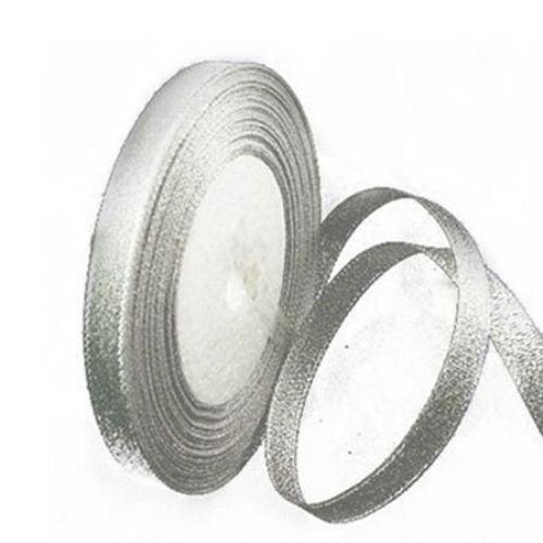 Лента oрганза 10 мм сребро ±22 метра