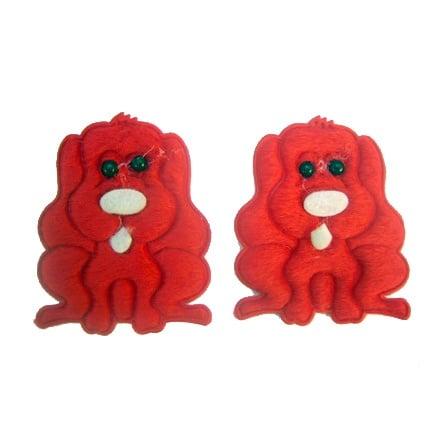 Лъвче 50x44мм. червено -10бр.
