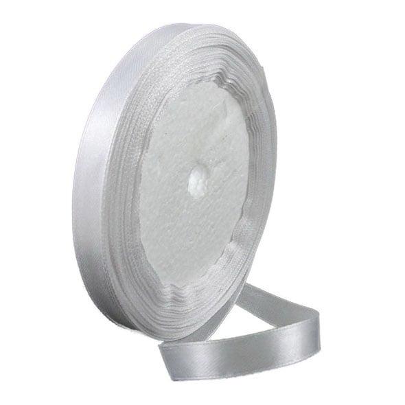 Ширит cатен 10 мм млечно бял ~22 метра