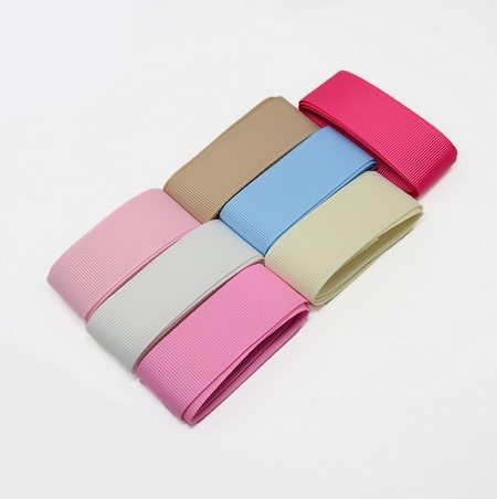 Комплект ленти сатен 6 мм рипс 9 цвята x 1 метър