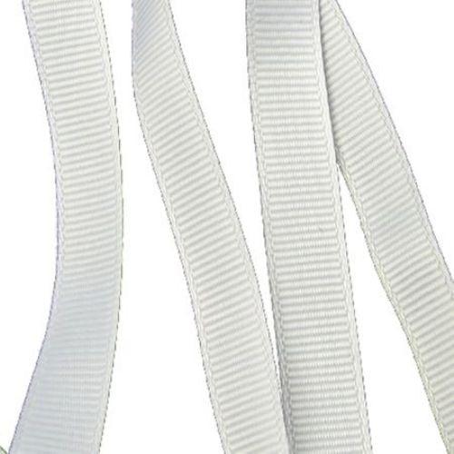 Ширит Сатен 10 мм рипс бял ~10 метра