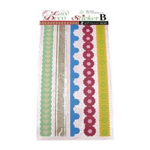 Декоративни ленти полипропилен самозалепващи 28.5 см 5 броя