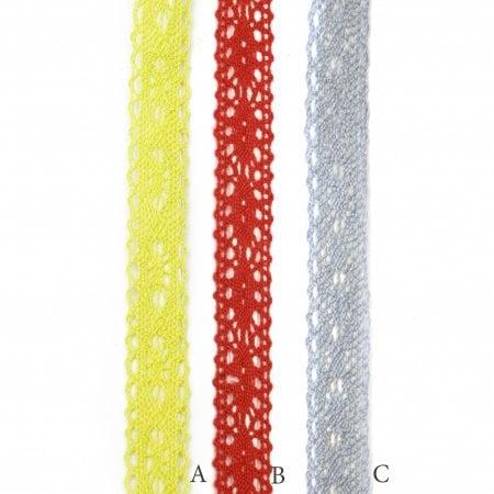 Лента дантела 18 мм самозалепваща асорте цветове-2 метра