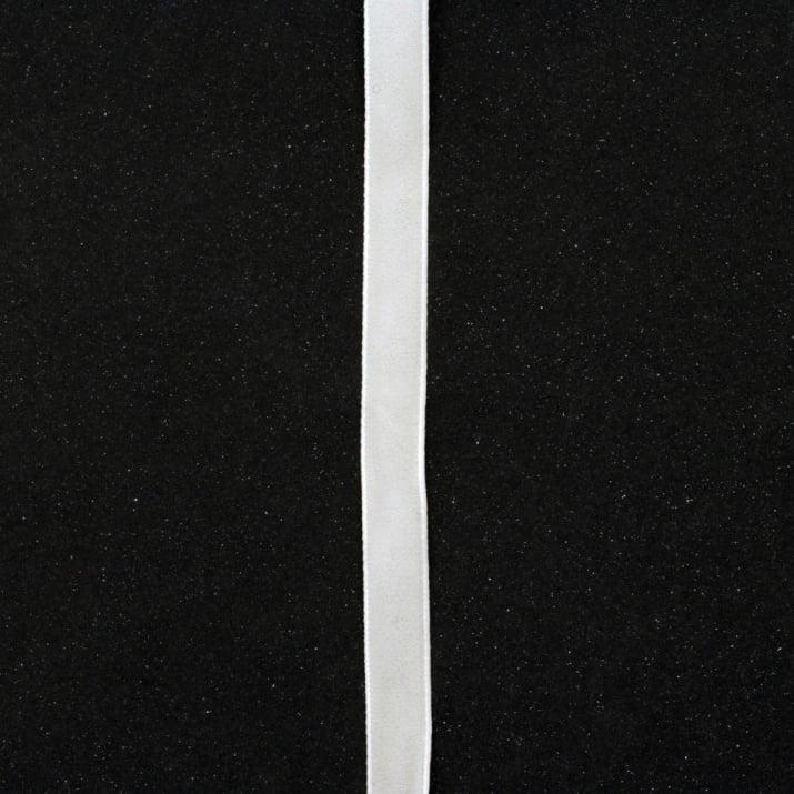 Лента кадифе 10 мм бяла -3 метра