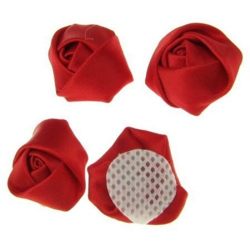 Роза 25х15 мм червена -10 броя