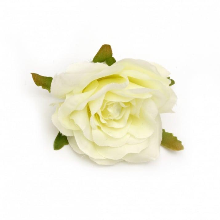 Цвят роза текстил 70 мм с пънче за монтаж шампанско -2 броя