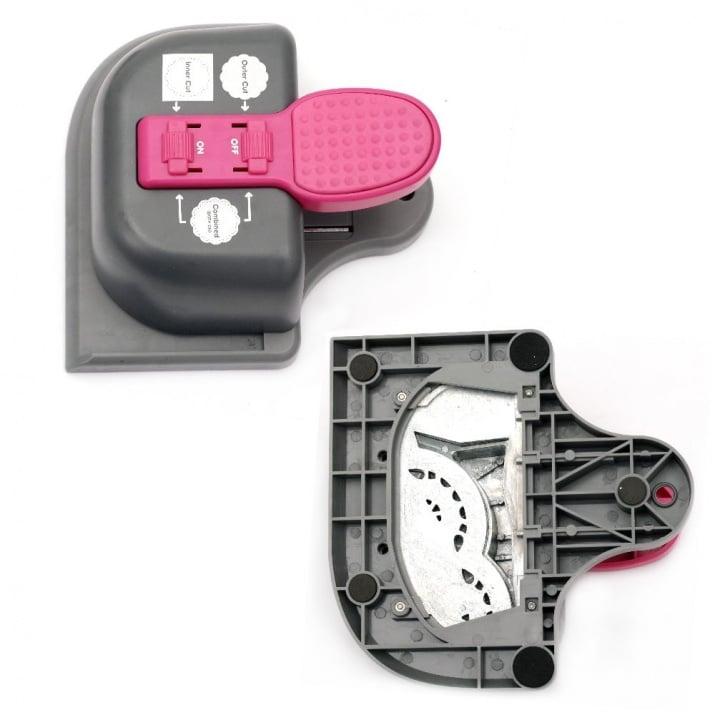 Перфоратор /пънч/ за дантелени подложки 125x55 мм 3 в 1 за картон до 160 гр/м2