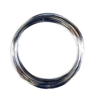 Тел за гривни 55 мм цвят сребро -50 навивки