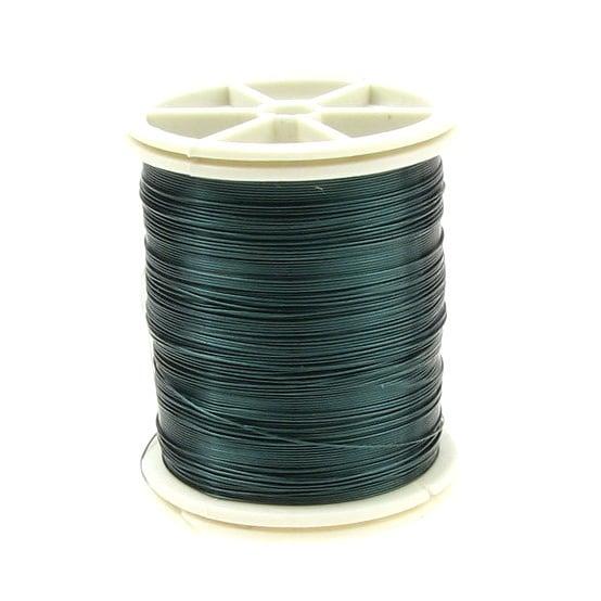 Тел медна 0.3 мм зелена тъмна ~50 метра
