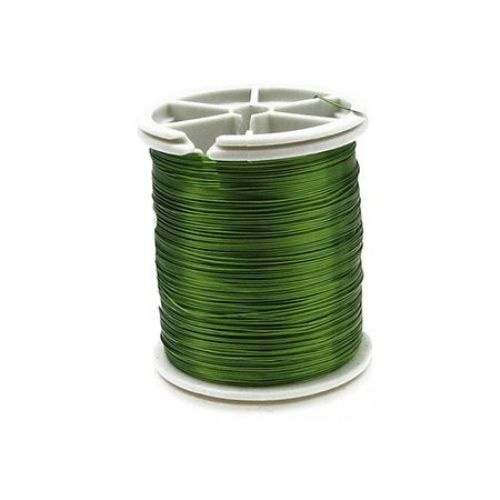 Тел медна 0.3 мм зелена светла ~50 метра