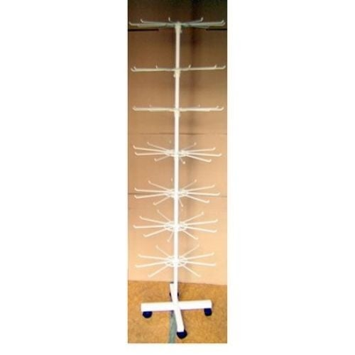 Стелаж въртележка метална 160x40см -7 реда с колелца