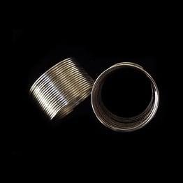 Тел за пръстен 20 мм цвят сребро -50 навивки