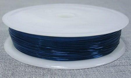 Медна тел 0.3мм синя тъмно -30 метра
