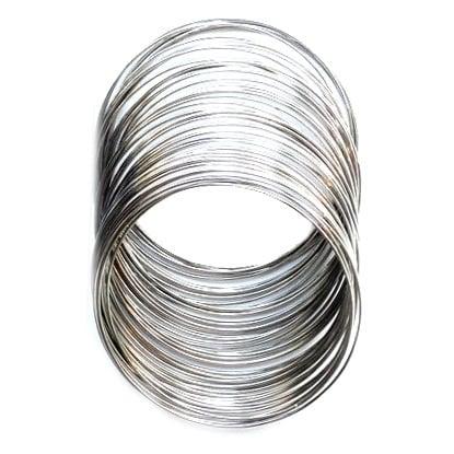 Тел за гривни 45х0.5 мм цвят сребро -50 навивки ~16 грама