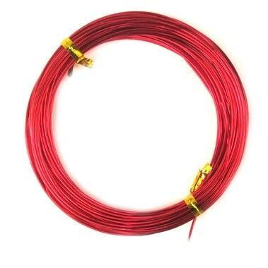Тел алуминиева 1 мм цвят червен -10 метра