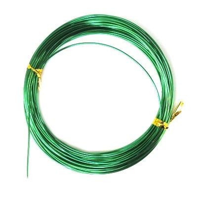 Тел алуминиева 1 мм цвят зелен тъмно -10 метра