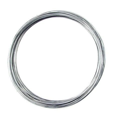 Тел за гердани 115x0.8 мм цвят сребро -50 навивки ~80 грама