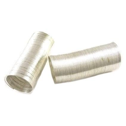 Тел за пръстен 22x0.6 мм цвят бял -50 навивки