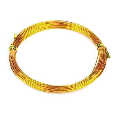Тел алуминиева 1 мм цвят оранжев светъл -10 метра