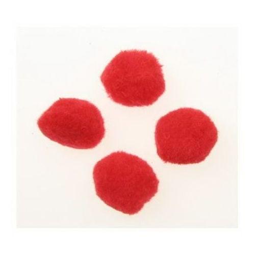 Помпони 25 мм червени -50 броя