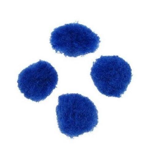 Помпони 12 мм сини тъмно -20 броя