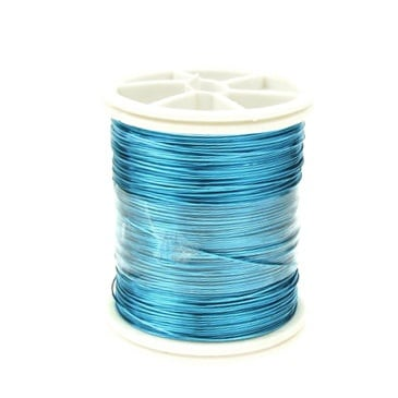 Тел медна 0.3 мм перлена синя тъмна ~50 метра