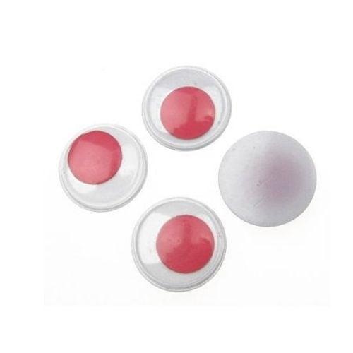Очички мърдащи розови 20 мм -20 броя