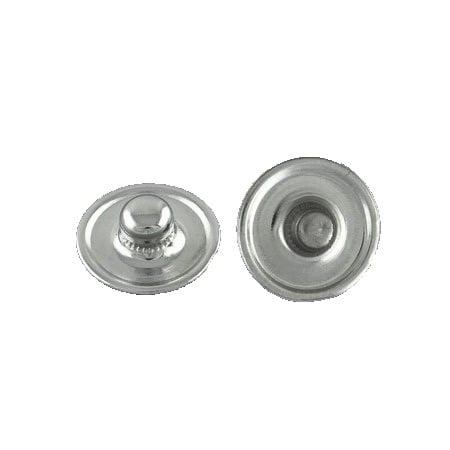 Метална основа за Тик-так копче 12 мм, плочка за вграждане 10 мм цвят сребро -6 броя