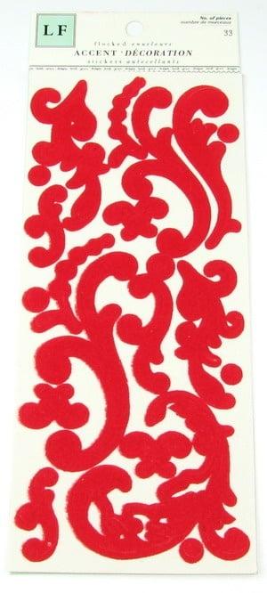 Самозалепващи стикери от филц червен