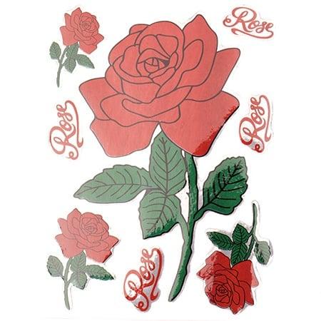 Самозалепващи стикери рози 10 листа x 4 броя