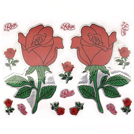 Самозалепващи стикери рози 10 листа x 9 броя