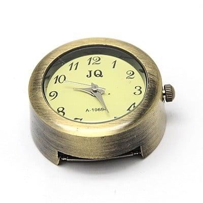 Часовник метал цвят античен бронз 28.5x26x13 мм. отвор 3x15 мм.