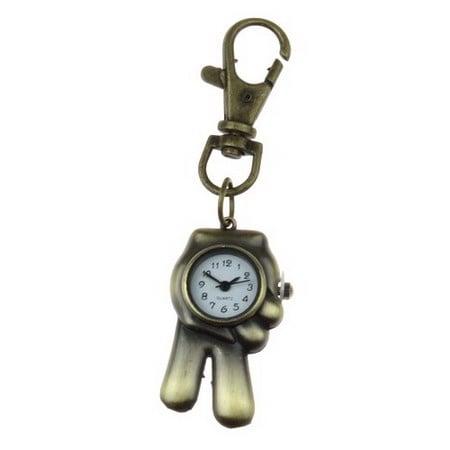 Ключодържател часовник отварящ метал цвят античен бронз 85 мм. ръка