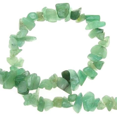 Наниз полускъпоценни камъни чипс 5-7 мм ~90 см АВАНТЮРИН