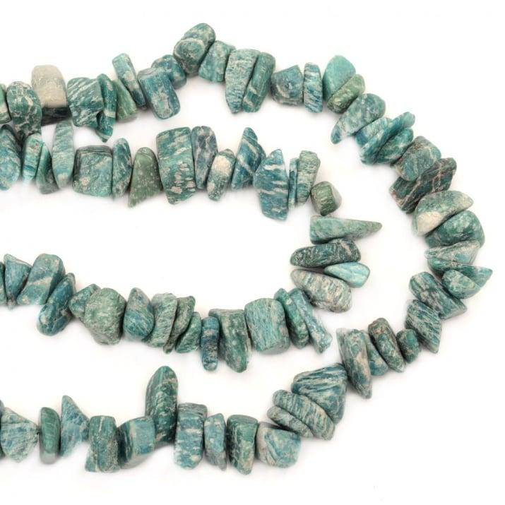 Наниз естествени камъни чипс 8-12 мм ~80 см
