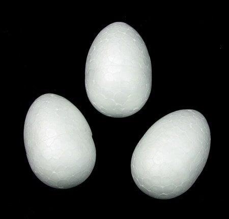 Яйце стиропор 40х28 мм. за декорация -10 броя