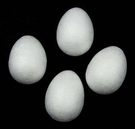Яйце стиропор 35х26 мм. за декорация -10 броя
