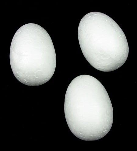 Яйце стиропор 48х34 мм за декорация -10 броя