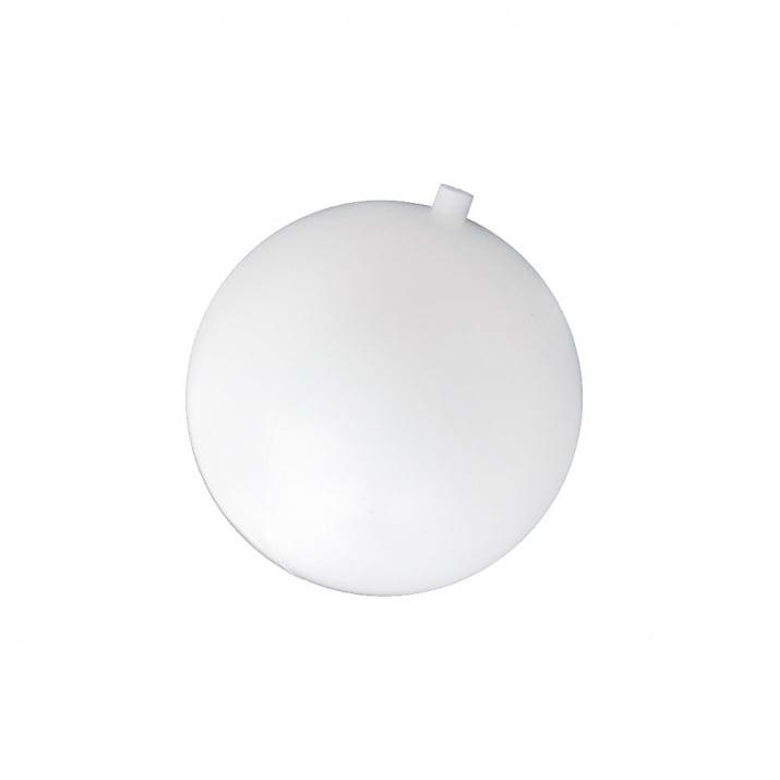 Топка пластмасова 60 мм с една дупка 8 мм бяла