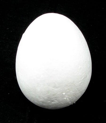 Яйце стиропор 95x71 мм. за декорация -2 броя