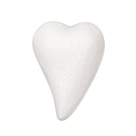 Сърце стиропор 80x56x30 мм за декорация -4 броя
