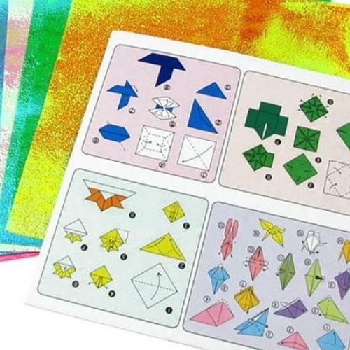 Хартия за оригами 15x15 см 5 цвята x 2 листа